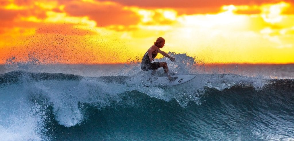 Colby Leachman Surfing